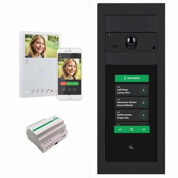 Video-Türstation Ultra Touch UP - Komplett - Netzteil 1210A - Wohnungsstation 6741W Wifi - RAL Farbe