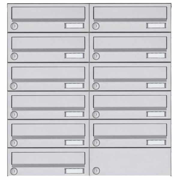 11er 6x2 Aufputz Briefkastenanlage Design BASIC 385A AP - Edelstahl V2A, geschliffen
