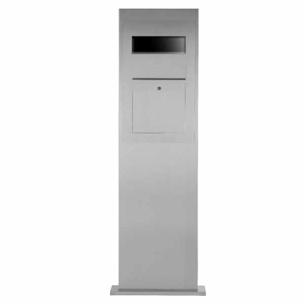 Edelstahl Briefkastensäule Designer Modell BIG - GIRA System 106 - 3-fach vorbereitet