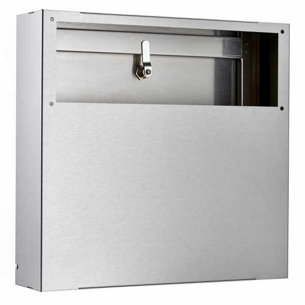 Edelstahl Innentür Briefkasten BIG - Passend für Briefeinwurf 410x140mm
