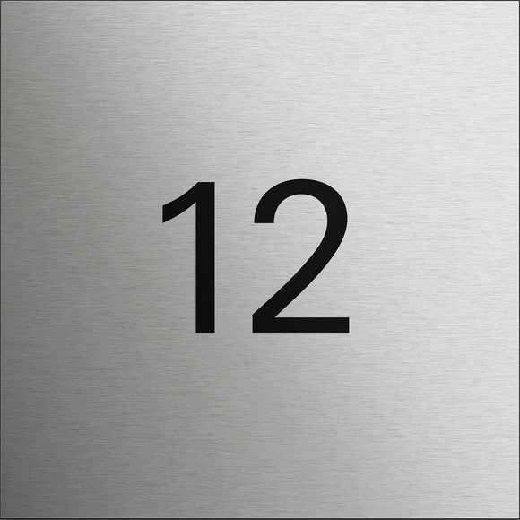 Gira System 106 Info-Modul mit Hausnummer / Text, laserbeschriftet - Edelstahl V2A