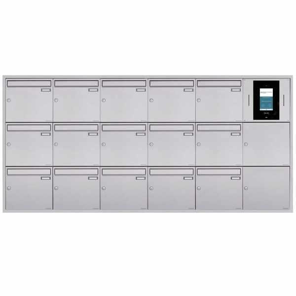 15er 6x3 Unterputzbriefkasten BASIC Plus 382XU UP - Edelstahl geschliffen - STR Digitale Türstation