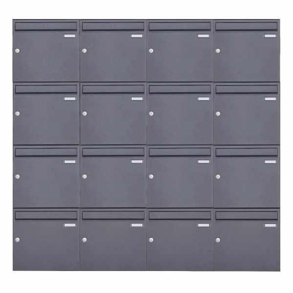16er 4x4 Aufputz Briefkasten Design BASIC 382A AP - DB703 eisenglimmer