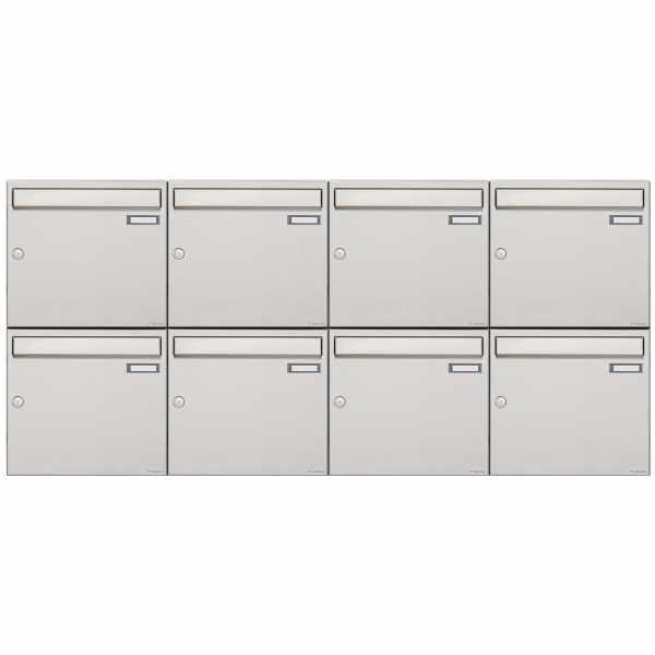8er 2x4 Edelstahl Aufputz Briefkastenanlage Design BASIC 382A-AP