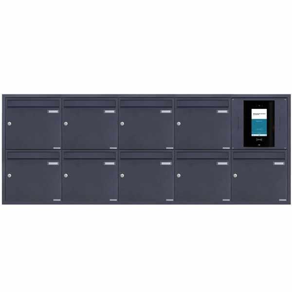 9er 5x2 Edelstahl Unterputzbriefkasten BASIC Plus 382XU UP - RAL nach Wahl - STR Digitale Türstation