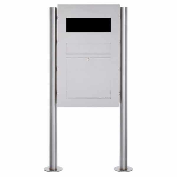 Edelstahl Standbriefkasten Designer Modell BIG - GIRA System 106 - 3-fach vorbereitet