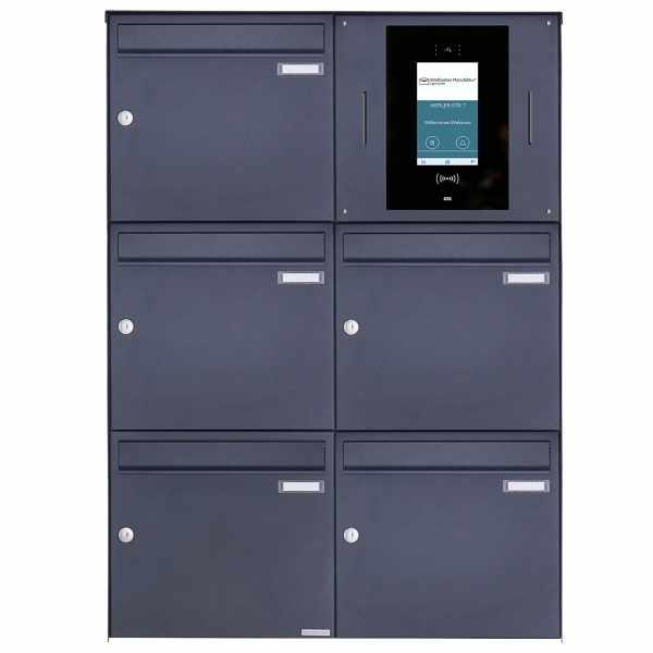 5er 2x3 Edelstahl Aufputzbriefkasten BASIC Plus 382XA AP - RAL - STR Digitale Türstation Komplettset