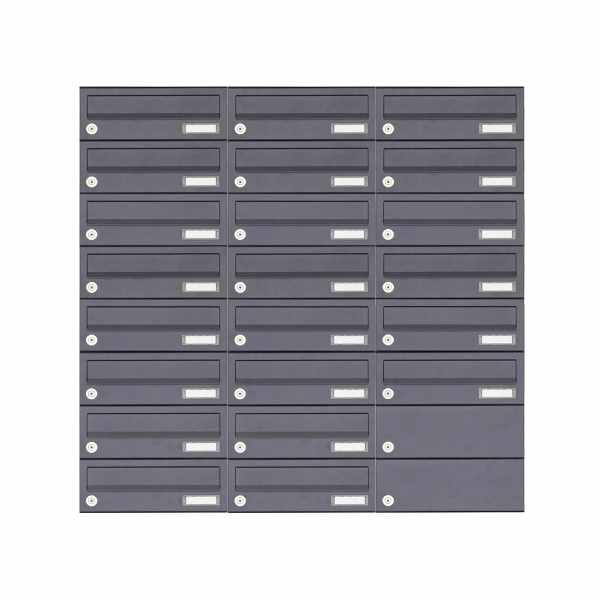 22er 8x3 Aufputz Briefkastenanlage Design BASIC 385A-7016 AP - RAL 7016 anthrazitgrau