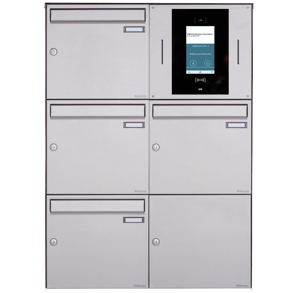 9er 9x9 Aufputzbriefkasten BASIC Plus 989XA AP   Edelstahl geschliffen    STR Digitale Türstation