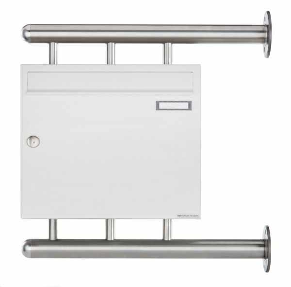 Briefkasten BASIC 810 W zur seitlichen Wandmontage - RAL 9016 verkehrsweiß