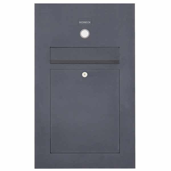 Edelstahl Briefkasten Designer Modell SMALL - Clean Edition - RAL nach Wahl - INDIVIDUELL