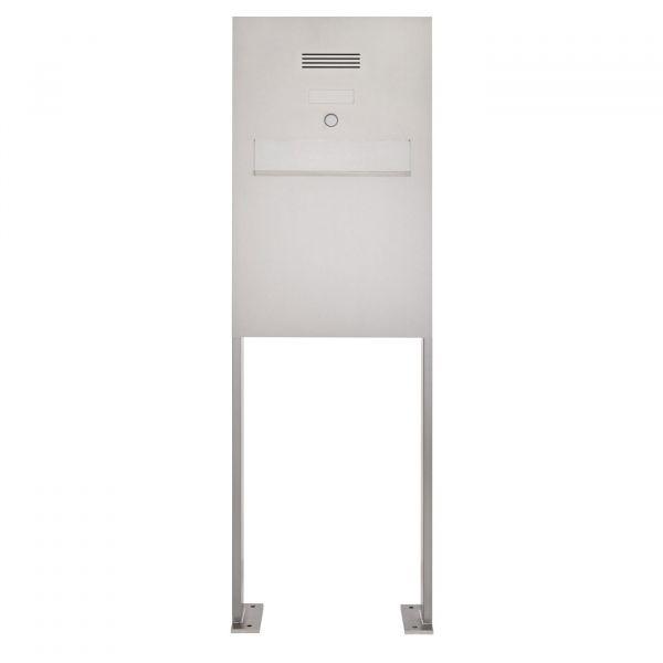 Edelstahl Standbriefkasten - Zaunbriefkasten Designer Modell BIG ST-P - Clean Edition - INDIVIDUELL