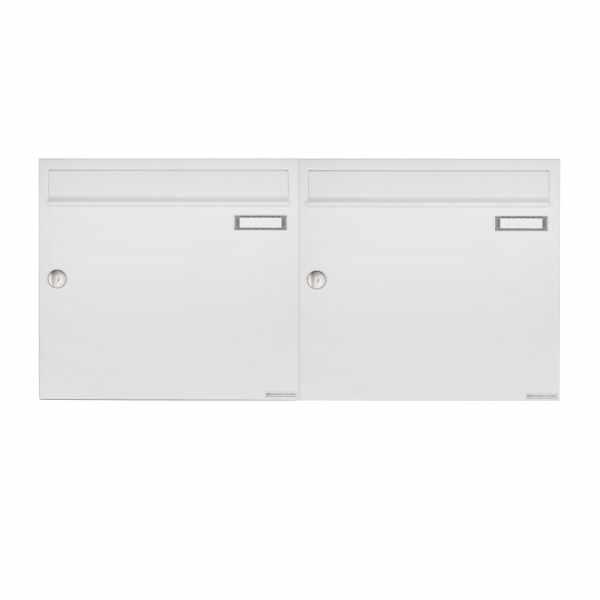 2er 1x2 Aufputz Briefkastenanlage Design BASIC 382A AP - RAL 9016 verkehrsweiß