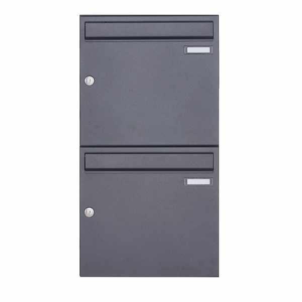 2er 2x1 Aufputz Briefkasten Design BASIC 382A AP - DB703 eisenglimmer