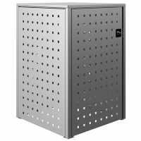 Modulare Mülltonnenbox BASIC 751V1 - Edelstahl geschliffen - 120-240 Liter - Individuelle Verkettung
