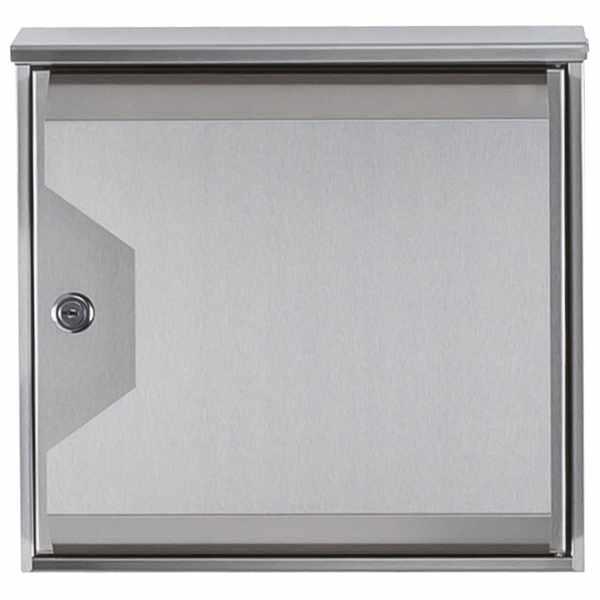 Edelstahl Design-Briefkasten HESSE 155 mit Zeitungsfach - Wandbriefkasten