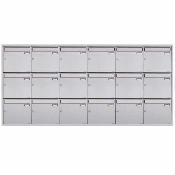 18er 6x3 Edelstahl Unterputz Briefkastenanlage BASIC Plus 382XU UP - Edelstahl geschliffen