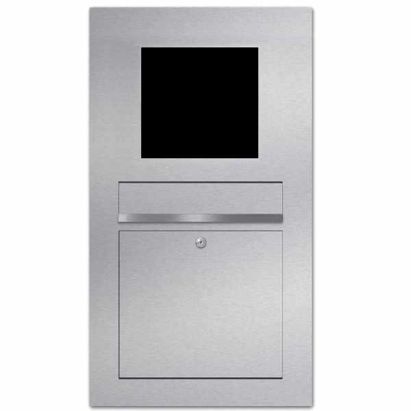 Edelstahl Briefkasten Designer Modell BIG - GIRA System 106 - 4-fach vorbereitet
