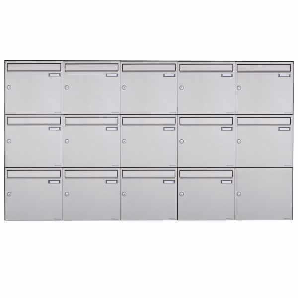 14er 3x5 Edelstahl Aufputz Briefkasten Design BASIC Plus 382XA AP - Edelstahl V2A geschliffen