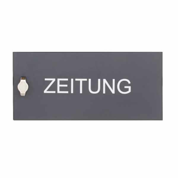 Zeitungsfach geschlossen BASIC 382AZF pulverbeschichtet in RAL 7016 anthrazitgrau