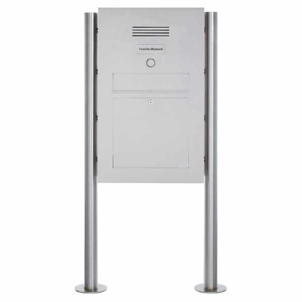 Edelstahl Standbriefkasten Designer Modell BIG ST-R - Clean Edition - INDIVIDUELL