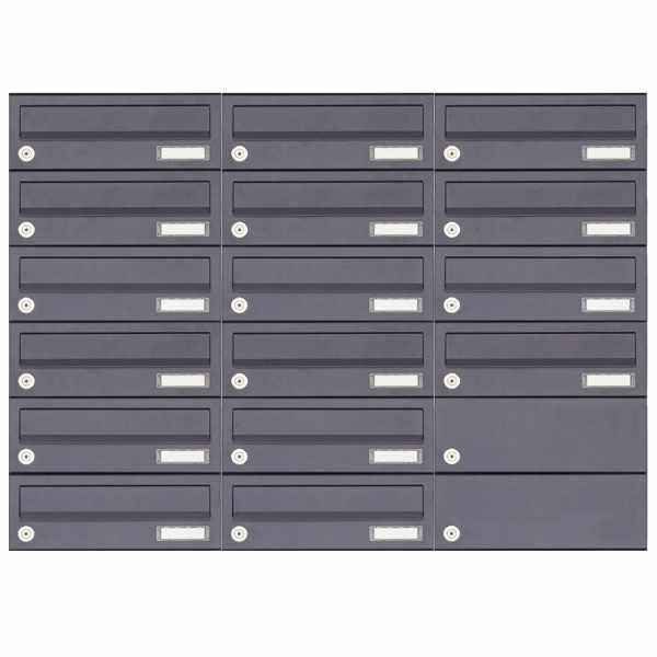 16er 6x3 Aufputz Briefkastenanlage Design BASIC 385A-7016 AP - RAL 7016 anthrazitgrau