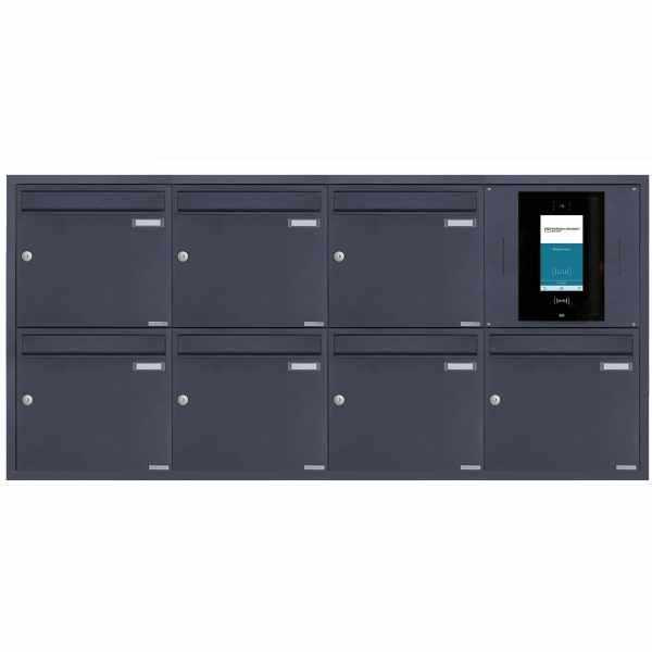7er 4x2 Edelstahl Unterputzbriefkasten BASIC Plus 382XU UP - RAL nach Wahl - STR Digitale Türstation