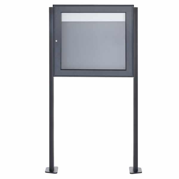 Freistehender Schaukasten BASIC Plus 389X ST-T - 710x660 - RAL nach Wahl