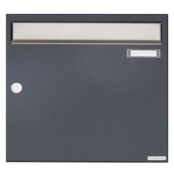 Aufputz Briefkasten Design BASIC 382A AP - Edelstahl-RAL 7016 anthrazitgrau