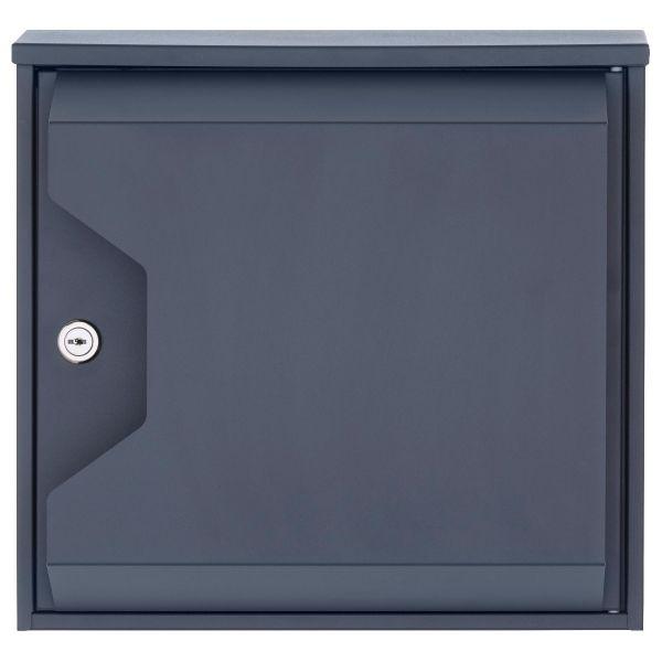 Design-Briefkasten HESSE 155-7016 mit Zeitungsfach - RAL 7016 anthrazitgrau