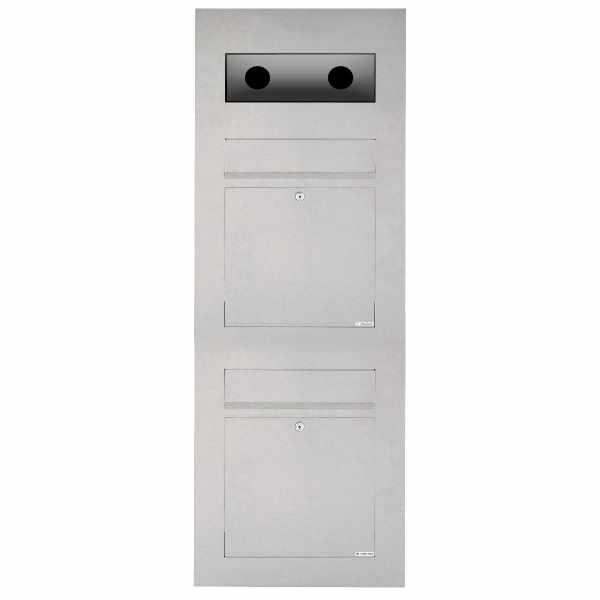2er Edelstahl Briefkasten Designer Modell BIG - GIRA System 106 - 3-fach vorbereitet