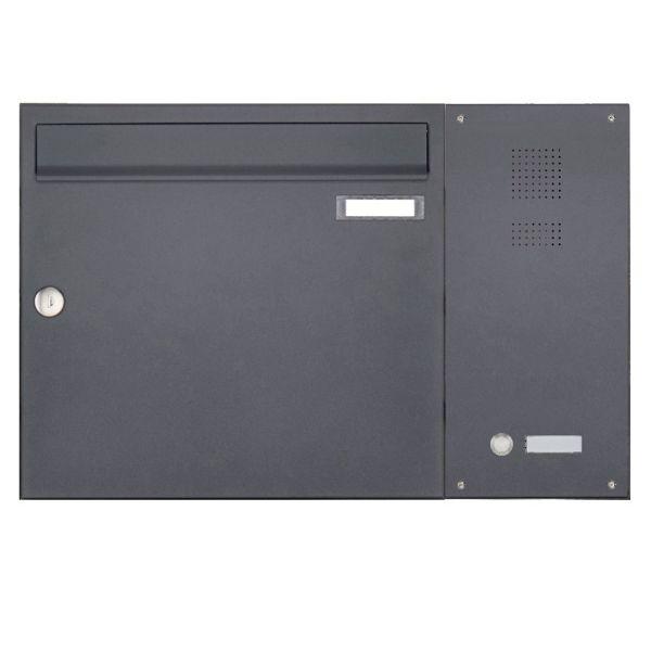 1er Aufputz Briefkasten BASIC Plus 592 AP mit Klingelkasten seitlich - RAL nach Wahl