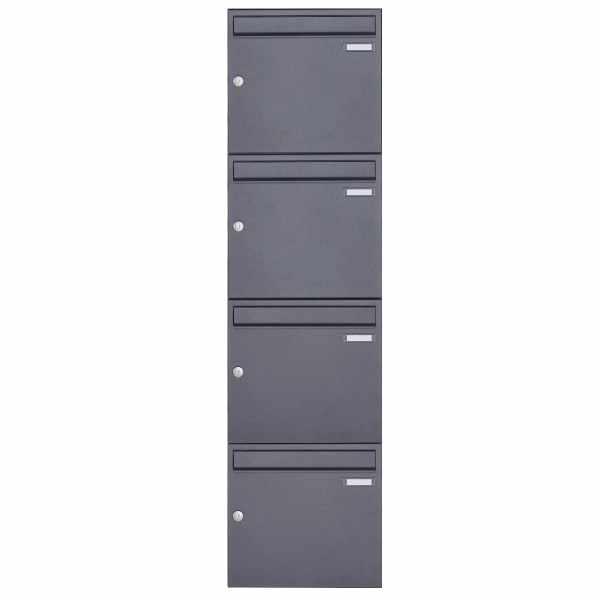 4er 4x1 Aufputz Briefkasten Design BASIC 382A AP - DB703 eisenglimmer