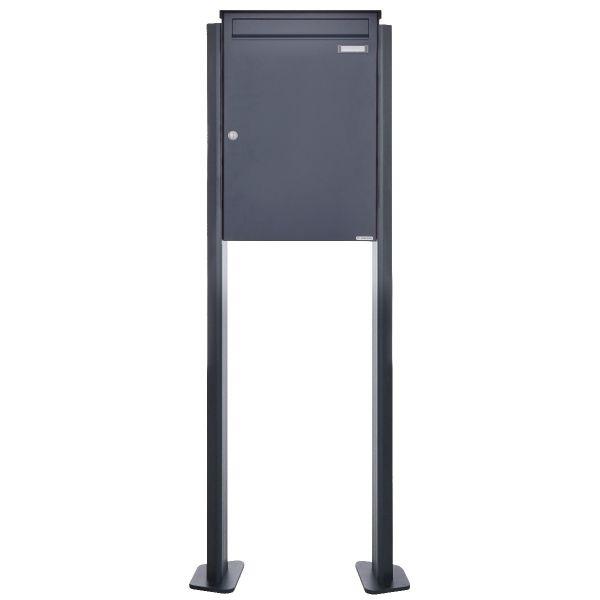 Großraumbriefkasten freistehend Design BASIC 380BP-550 ST-T - RAL 7016 Anthrazit-Grau