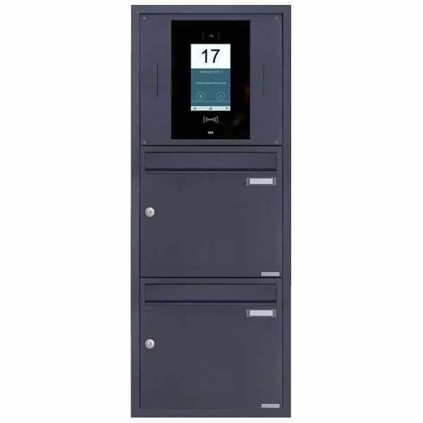 2er Edelstahl Unterputzbriefkasten BASIC Plus 382XU UP - RAL - STR Digitale Türstation - Komplettset