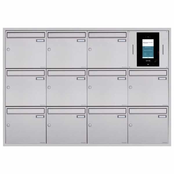 11er 4x3 Unterputzbriefkasten BASIC Plus 382XU UP - Edelstahl geschliffen - STR Digitale Türstation