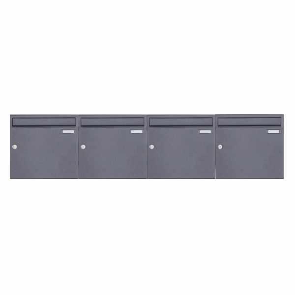 4er 1x4 Aufputz Briefkasten Design BASIC 382A AP - DB703 eisenglimmer