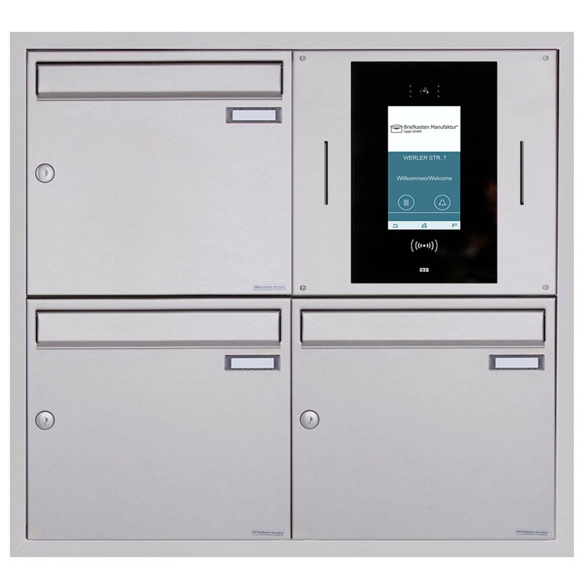 9er Unterputzbriefkasten BASIC Plus 982XU UP   Edelstahl geschliffen   STR  Digitale Türstation
