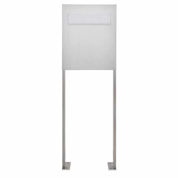 Edelstahl Standbriefkasten als Zaunbriefkasten DESIGNER Style BIG ST-P - Entnahme rückseitig