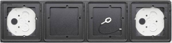 Gira System 106 Aufputz-Gehäuse 4fach - Anthrazit 5504910