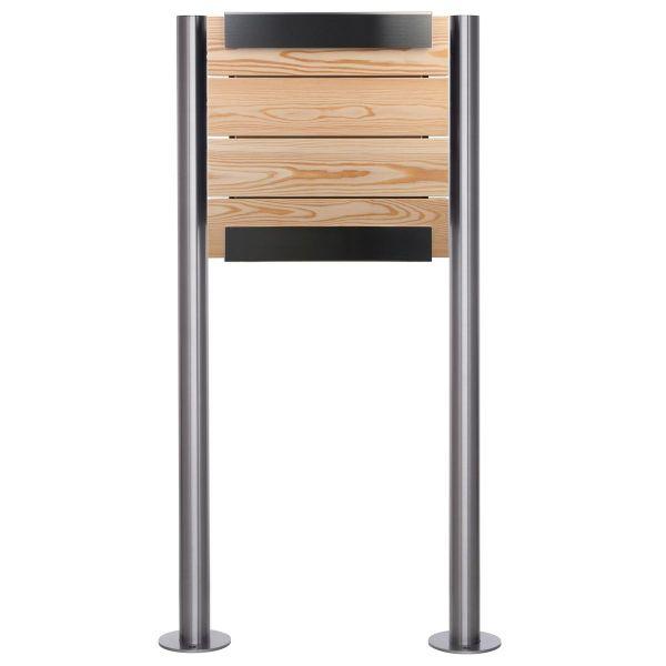 Design Standriefkasten KEILBACH glasnost wood larch ST-R aus Edelstahl & geölten Lärchenholz