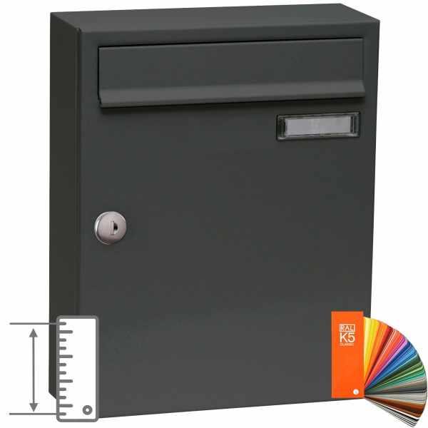 Edelstahl Aufputz Briefkasten BASIC - verschiedene RAL Farben & Größen
