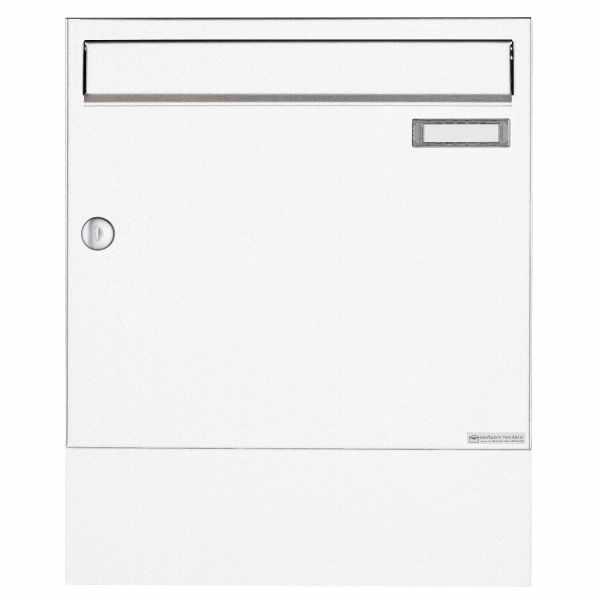 Aufputz Briefkasten Design BASIC 382A AP mit Zeitungsfach - RAL 9016 verkehrsweiß