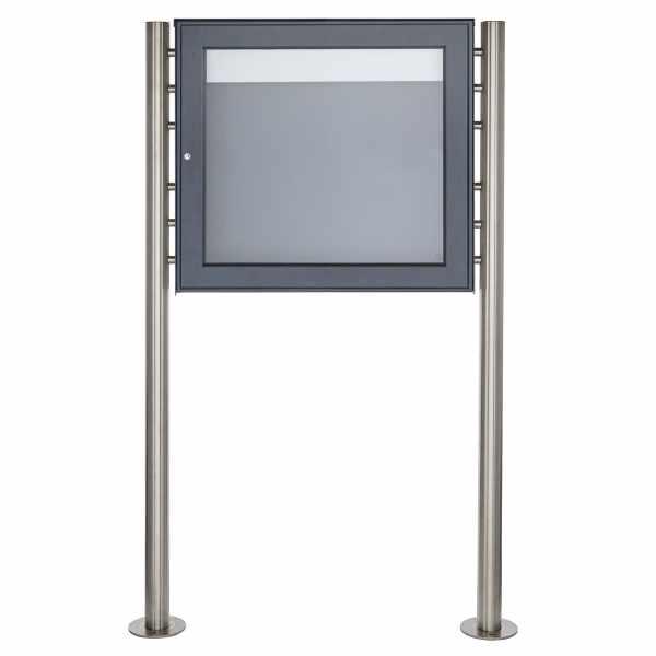 Freistehender Schaukasten BASIC Plus 389X ST-R - 710x660 - RAL nach Wahl