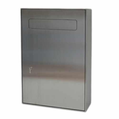 Sicherheits Briefkasten Typ 116 AP - Edelstahl geschliffen