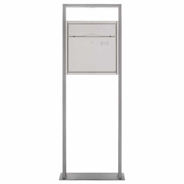 Design Standbriefkasten PREMIUM BIG LIBERTE aus Edelstahl - Standelement Alu pulverbeschichtet