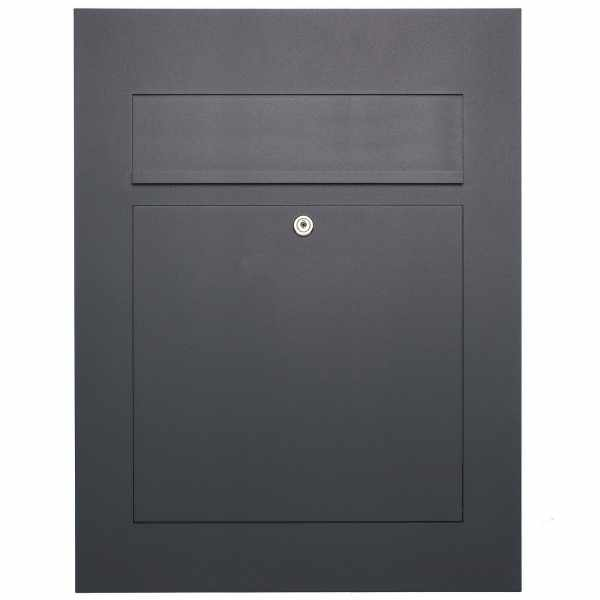 Edelstahl Design Briefkasten DESIGNER Style BIG pulverbeschichtet