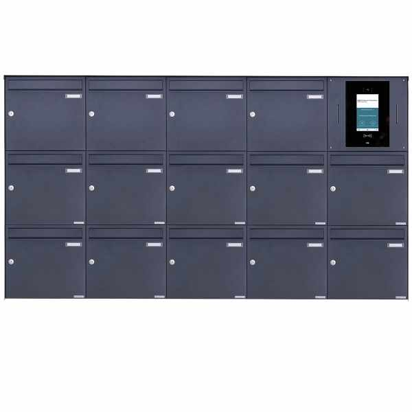 14er 5x3 Edelstahl Aufputzbriefkasten BASIC Plus 382XA AP - RAL nach Wahl - STR Digitale Türstation