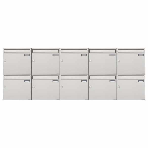 10er 2x5 Edelstahl Aufputz Briefkastenanlage Design BASIC 382A-AP