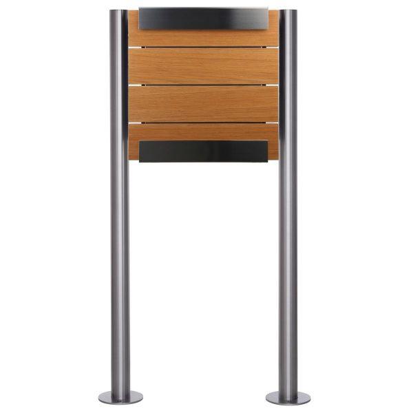 Design Standriefkasten KEILBACH glasnost wood oak ST-R aus Edelstahl & geölten Eichenholz